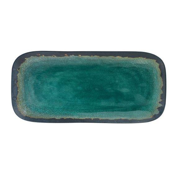 Merritt Melamine Tray – Natural Elements Turquoise