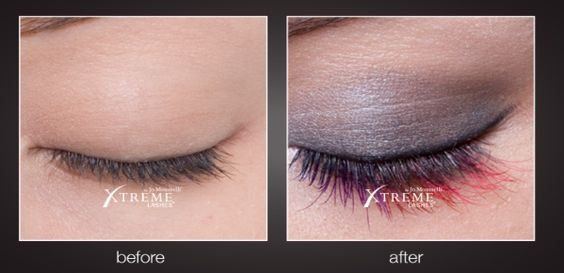 Lashes with makeup