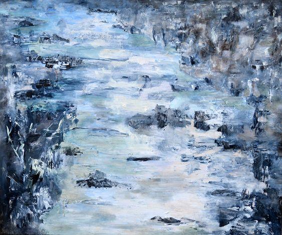 Anna Forycka-Putiatycka , 2010 Moja rzeka,olej-płótno 100x120cm,2010 r