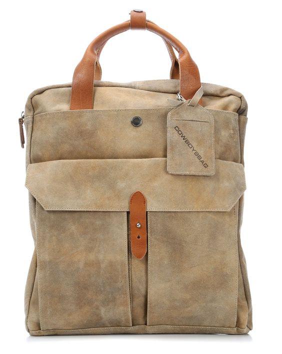 wardow.com - #Cowboysbag, Spencer Rucksack Leder khaki 40 cm