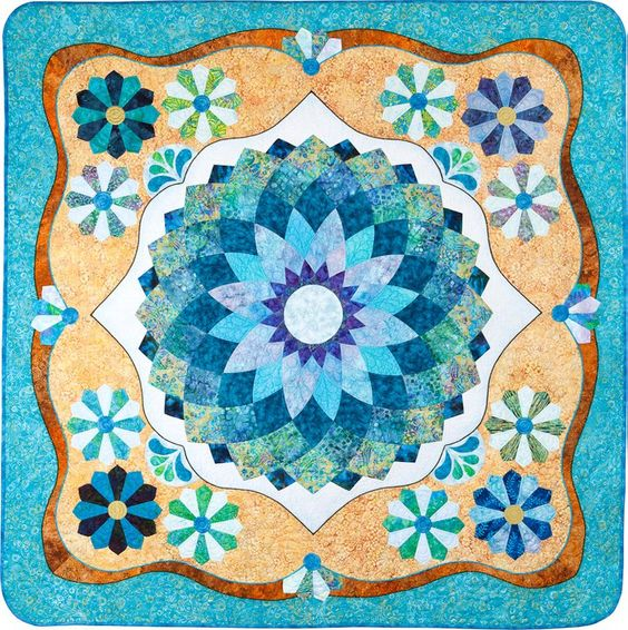 Intermediate Quilting Patterns : Dahlias and Dresdens Northwest Quilting Expo First Place, Intermediate Quilts Dahlia by Mary C ...