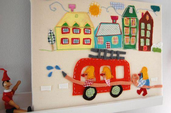 Die Feuerwehr ist da... von by-kosa auf DaWanda.com