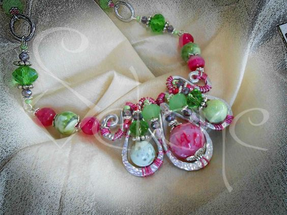 TuttiFrutti!  Aluminum and semi-precious stones Necklace.
