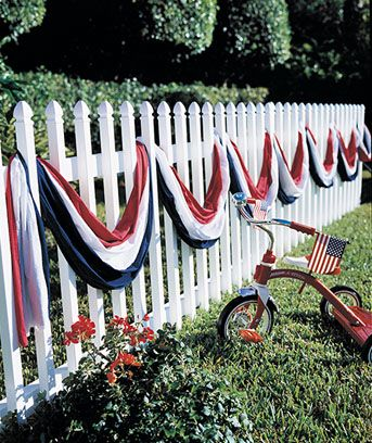 I want to order this to drape on our porch (when it is finished, obviously) for patriotic holidays. $11.95 from Lakeside Collection.