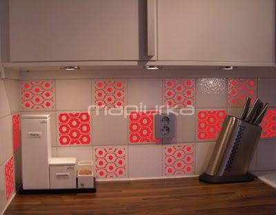 Vinilos para azulejos de cocina decoraxion pinterest for Vinilos pared azulejos