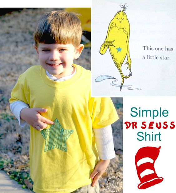Super simple idea for a dr seuss character costume from for One fish two fish costume