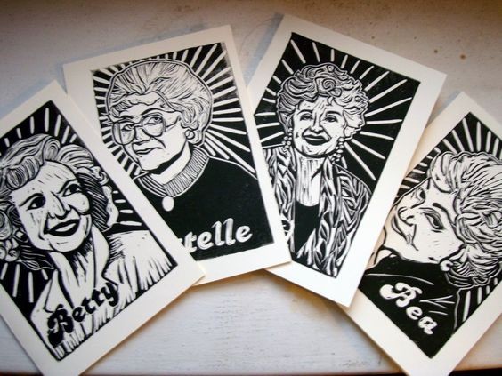Golden Girls Note Cards  Complete Set by moneycity on Etsy, $7.50