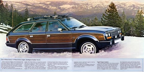 AMC Eagle - the granddaddy of all crossovers. Yes, I want one.