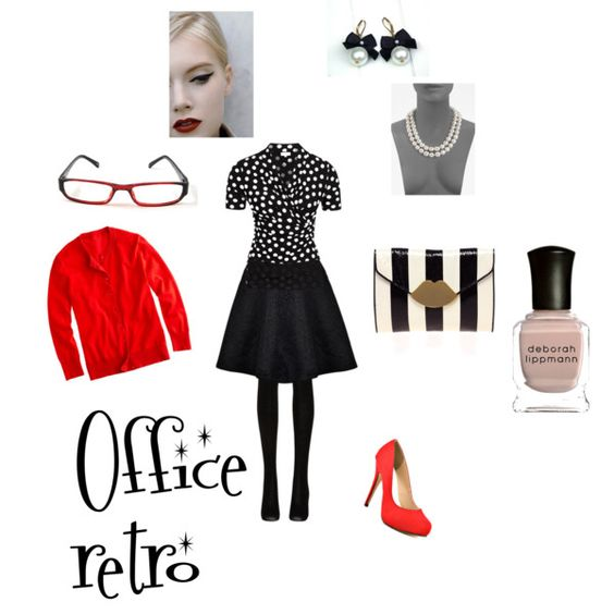 Office appropriate retro, created by michellemiller-1 on Polyvore