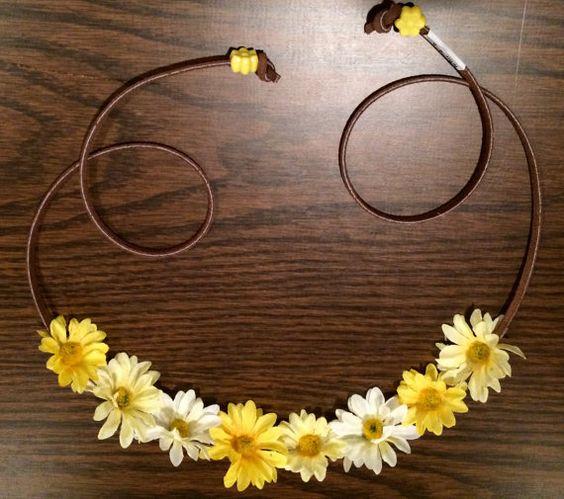Mini Multi Yellow Daisy Flower Headband