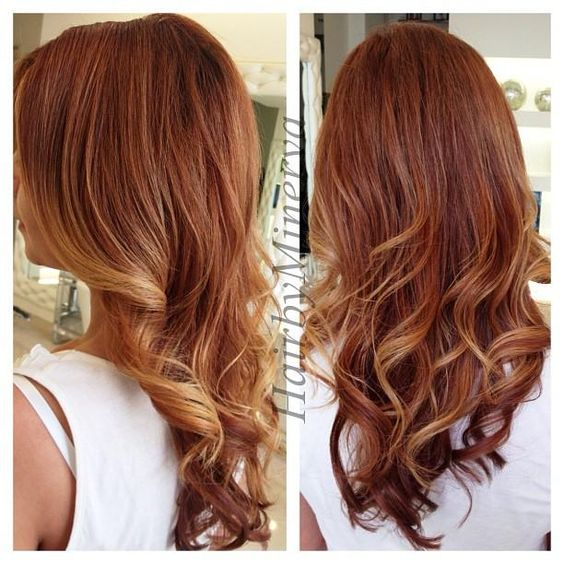 copper gold ombre