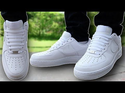 How To BAR LACE Nike Air Force 1s (THE