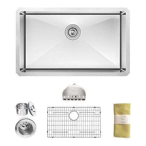 Zuhne 30 Inch Undermount Single Bowl 16 Gauge Stainless Steel Kitchen Sink Buy