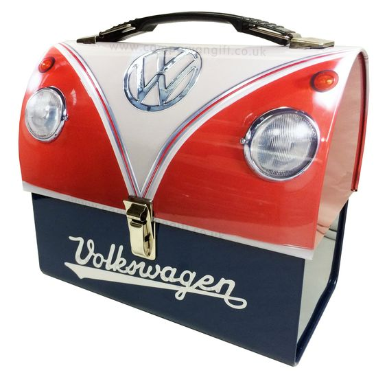 Campervan Gift - VW Red Campervan Collectible Domed Lunch Box Tin, (http://www.campervangift.co.uk/vw-red-campervan-collectible-domed-lunch-box-tin/)