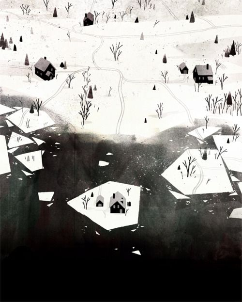 """Jon Klassen, from """"The Where, The What and The How: 75 Artists Illustrate the Wondrous Mysteries of the Universe."""""""