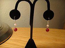 Red, White, & Silver Earrings Earrings