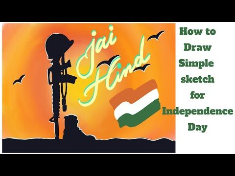 Independence Day Sketch Salute To Martyrs Easy Drawing For Independence Day 15 August Sketch Youtu Independence Day Drawing Easy Drawings Happy Drawing