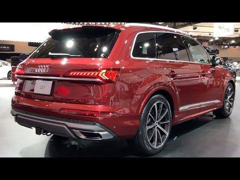 2020 Audi Q7 55 Tfsi Quattro Carbon Metallic 335hp In Depth Video Walk Q7 Car Audi Q7 Audi