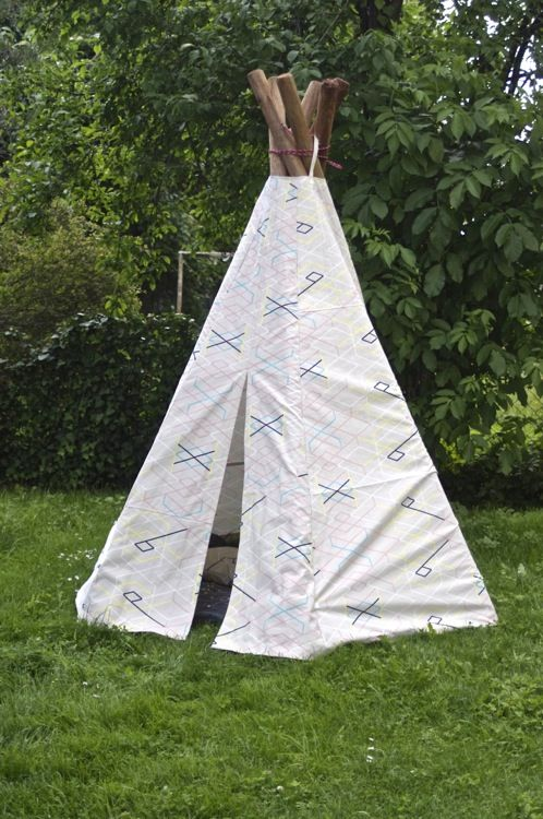teepee diy ein zeltbau tutorial auf deutsch indianerzelt tippi selbermachen kinderkram kids. Black Bedroom Furniture Sets. Home Design Ideas