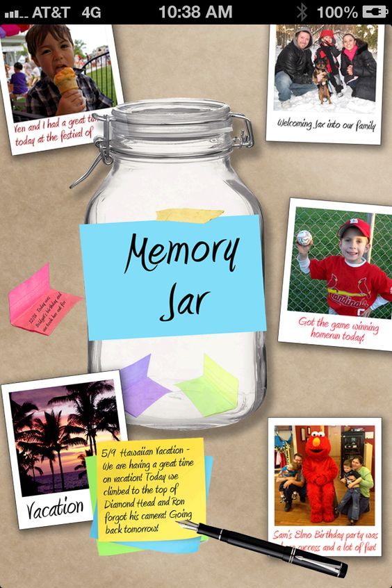 """Our """"Memory Jar"""" app is coming soon!  The release date is set for 12/18 so mark your calendars!!!    http://memoryjar.jebsapps.com/app/"""