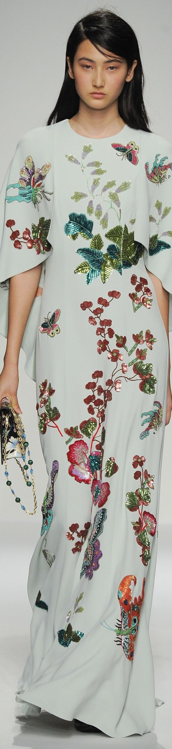 //The Butterfly Bash {party like a butterfly} Andrew Gn Spring 2016 #fashion #floral