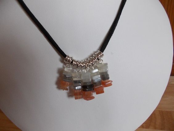 Multi-colour moonstone slices fringe necklace £9.00