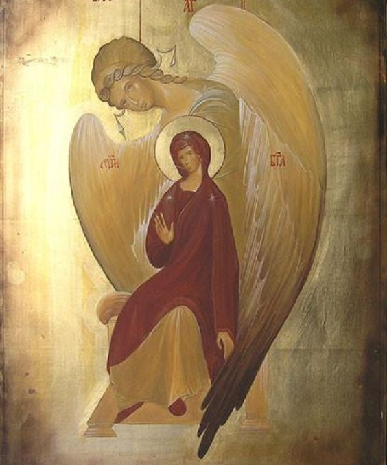 My sister Olja is very much like this icon to me. She is a good woman and person, guarded by her guardian Angel Gavrilo. This is an image of Orthodox Presvetla Bogorodica Velikoblagodatna, could be found in Greece.: