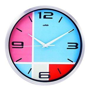 Colorful Dial Wall Clock in Metal