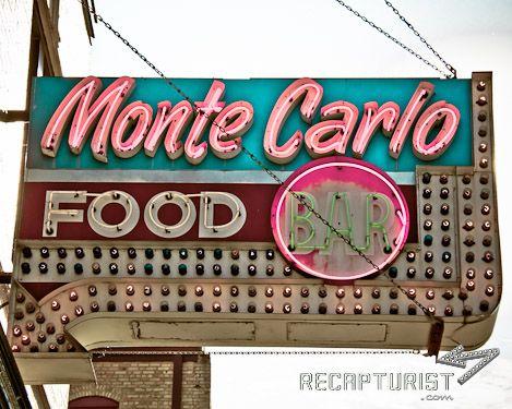Monte Carlo Bar & Cafe (Minneapolis, MN).  Vintage sign photography via Recapturist.com