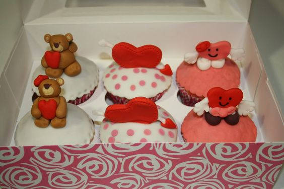 Cupcakes San Valentin.