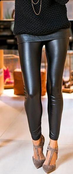 black on black leggings with nude finish