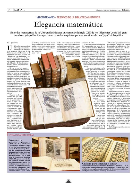 Euclides Elementa. Newton. Descartes