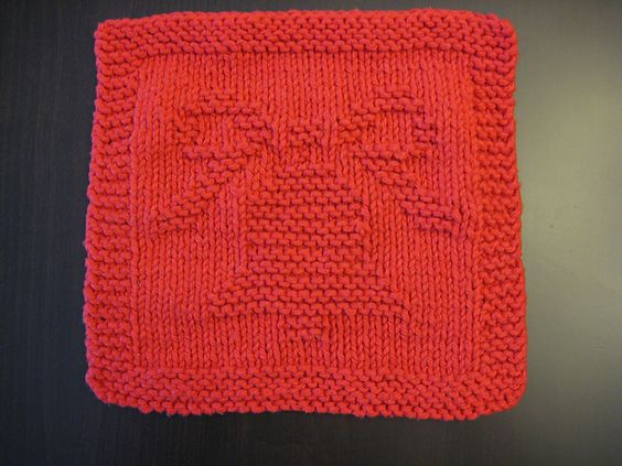 Knitting Pattern Christmas Bells : Free Pattern. Christmas Bell Knitted Dishcloth 2004 pattern by Melissa Bergla...
