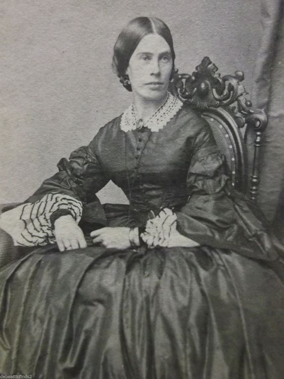 Lovely Lady-Huge Hoop Dress-Civil War Era-Chair-Antique CDV Photo-Hartford,CT: