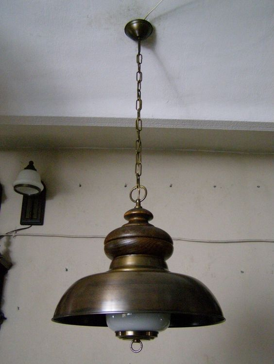 STYLOWA LAMPA KUCHENNA MOSIEZNY KLOSZ (5748310883) - Allegro.pl - Więcej niż aukcje.