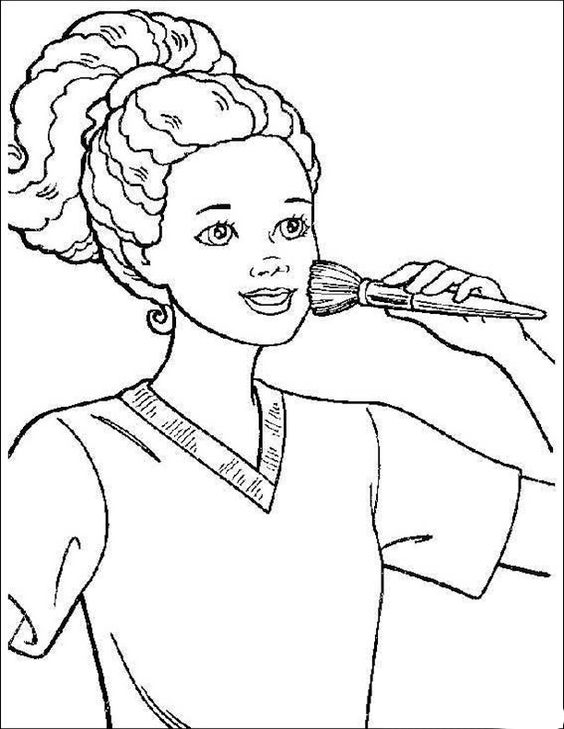 african american barbie | coloring pages | Pinterest ...
