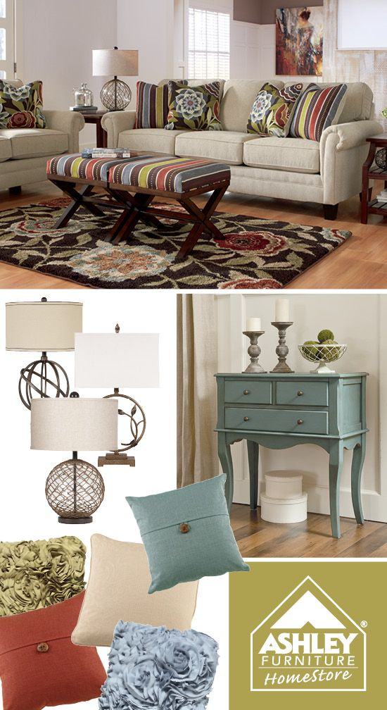 Nice Closest Ashley Furniture Store #14: Lighter Pops Of Color On A Neutral Sofa. (Ballari Sofa - Ashley Furniture HomeStore