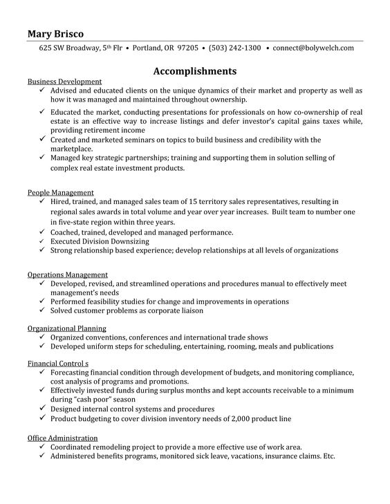 Functional Resume Example - Page 1    A functional resume focuses - business development resume examples