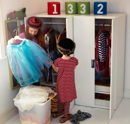 dress up cabinet storage stuva storage combination with doors loft kids room pinterest. Black Bedroom Furniture Sets. Home Design Ideas