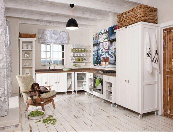 Elegantly freestanding units by Milestone Kitchens