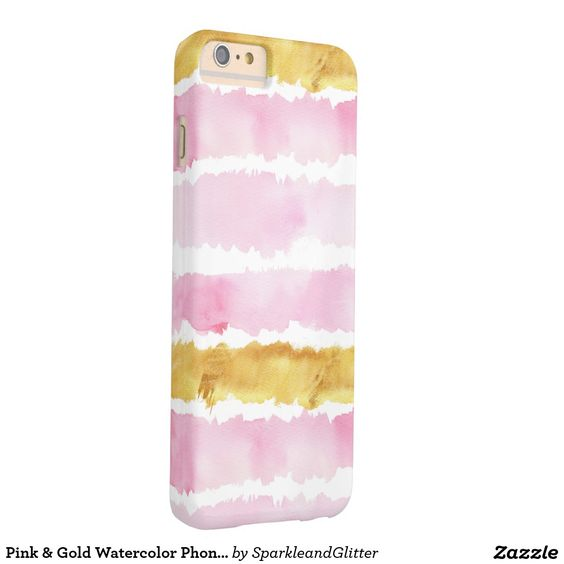 Pink & Gold Watercolor Phone Case