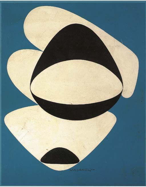 "Victor Vasarely, ""Locmaria"", 1952-72 http://decdesignecasa.blogspot.it/"