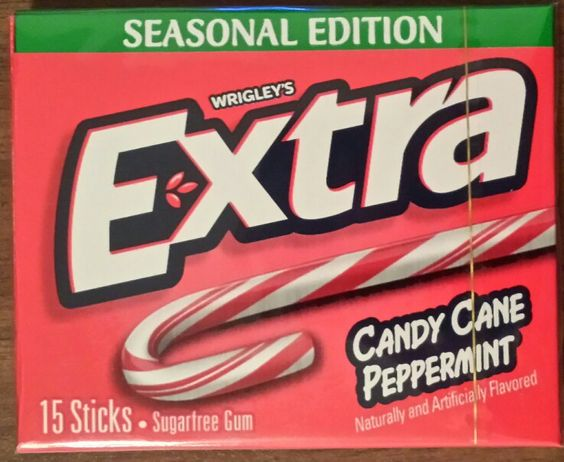 Extra Candy Cane Peppermint Sugarfree Gum