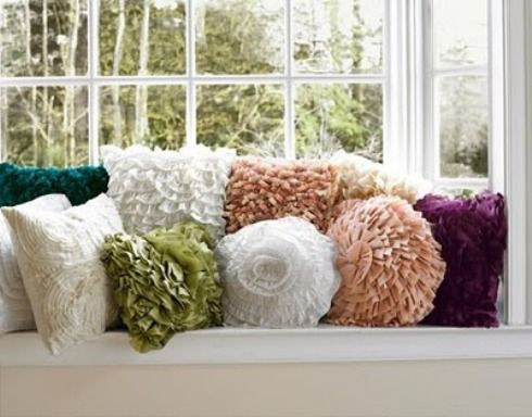 I love the texture of all the pillows