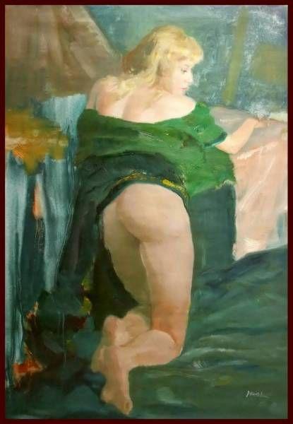 後ろ向きの裸婦Ⅱ