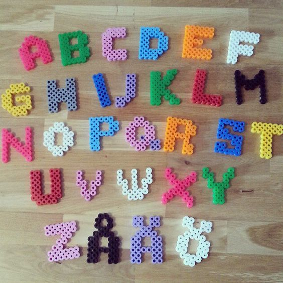 Alphabet hama beads by orangebrandgul hama perler beads perles repasser hama divers - Se connecter a pinterest ...