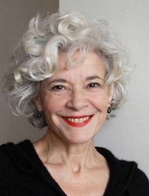Curly Short Hairstyle For Older Women Over 50 Short Haircuts For Older Women 2018 2019 164592561368770968 Grijs Haar Kapsels Krullend Haar Grijs Haar