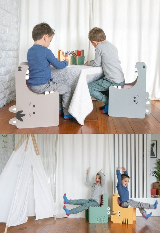 So cute! Gobble recyclable cardboard furniture for kids