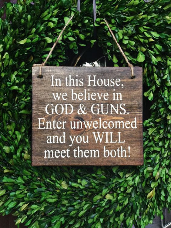 2nd Amendment Signs | 7x8 | Guns Sign | Do Not Disturb Sign | No Trespassing…