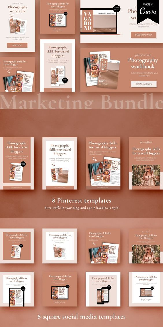 Lead Magnet Marketing Bundle Canva Pinterest Templates Creative Market Opt In Freebie Button Pinterest Templates Marketing Graphics Lead Magnet Marketing